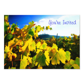 """Grape Leaves and the Sky 5"""" X 7"""" Invitation Card"""