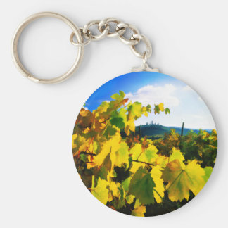 Grape Leaves and the Sky Key Chain