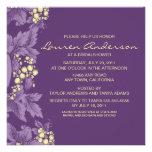 Grape Leaves Bridal Shower Invitation