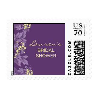 Grape Leaves Custom Postage