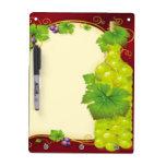 Grape Leaves Dry-Erase Board