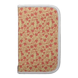Grape Leaves (Leaf), Dots, Swirls - Red Yellow Planners