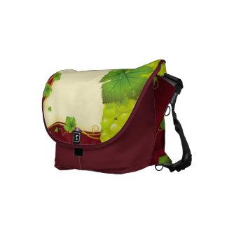 Grape Leaves Messenger Bag