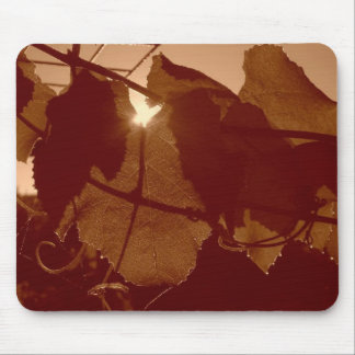 grape leaves mouse pad