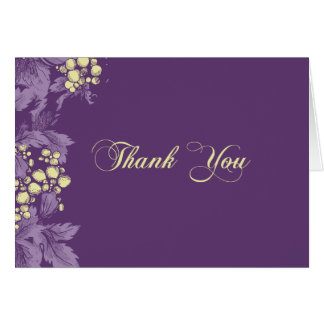 Grape Leaves thank you note card