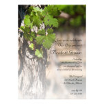 Grape Leaves Vineyard Engagement Party Invite