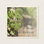 Grape Leaves Vineyard Wedding Paper Napkins