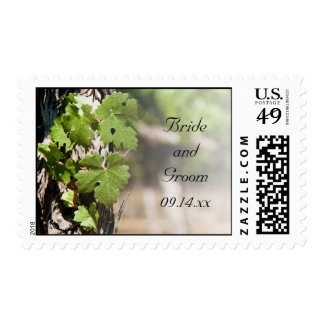 Grape Leaves Vineyard Wedding Postage