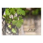 Grape Leaves Vineyard Wedding Response Card Personalized Invite