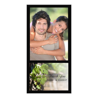 Grape Leaves Vineyard Wedding Thank You Card