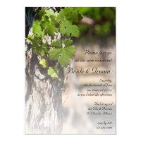 Grape Leaves Vineyard Winery Wedding Invitation