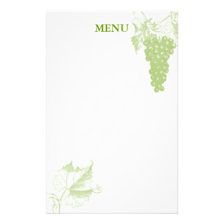 Grape Motifs Stationery