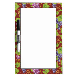 Grape Pattern Dry-Erase Board