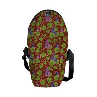 Grape Pattern Messenger Bag