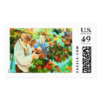 Grape Pickers 1996 Stamp