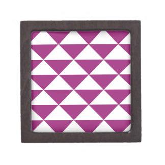 Grape Purple and White Triangles Gift Box