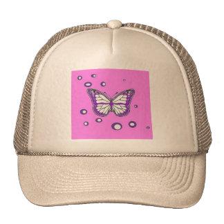 Grape purple Butterfly bubbled by Sharles Trucker Hat