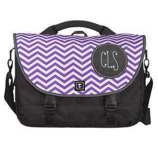 Grape Purple Chevron Stripes; Chalkboard look Commuter Bags
