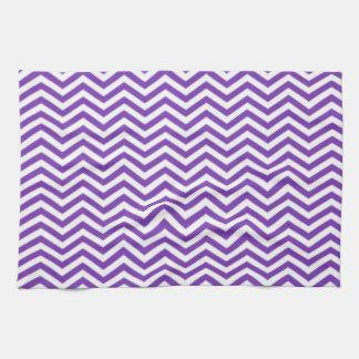 Grape Purple Chevron Stripes Hand Towels