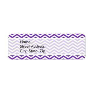 Grape Purple Chevron Stripes Label