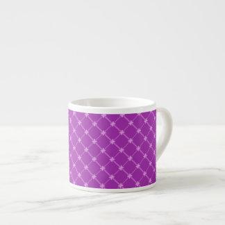 Grape, Purple Criss-Cross Pattern 6 Oz Ceramic Espresso Cup