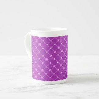 Grape, Purple Criss-Cross Pattern Tea Cup