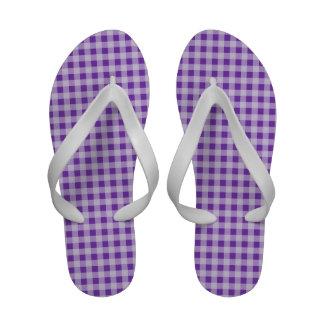 Grape Purple Gingham; Checkered Sandals