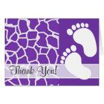 Grape Purple Giraffe Animal Print Stationery Note Card