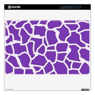Grape Purple Giraffe Animal Print Decals For MacBook