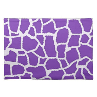 Grape Purple Giraffe Animal Print Placemat