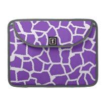 Grape Purple Giraffe Animal Print Sleeve For MacBooks