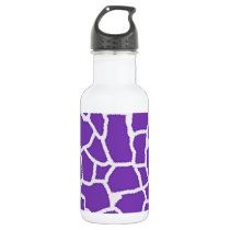 Grape Purple Giraffe Animal Print Water Bottle