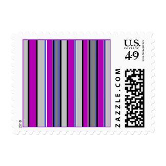 Grape Purple Stripes Stamp