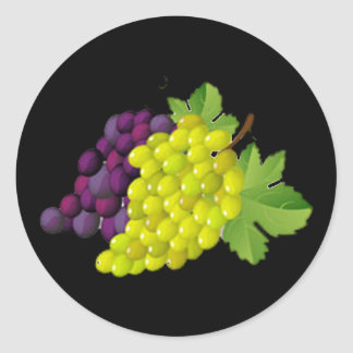 Grape Round Stickers