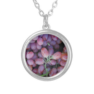 Grape Silver Plated Necklace
