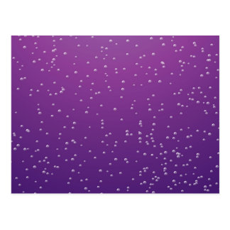 Grape Soda with Tiny Bubbles Background Art Postcard