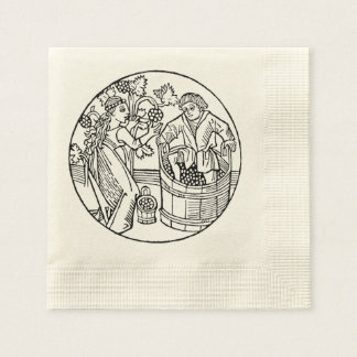 Grape Stompers cocktail napkin