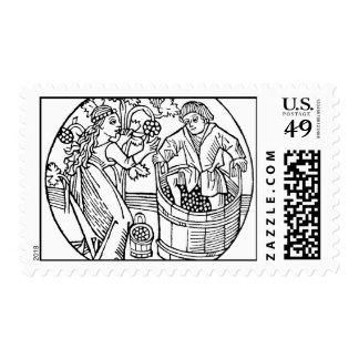 Grape Stompers postage