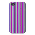 Grape Stripes Cases For iPhone 4