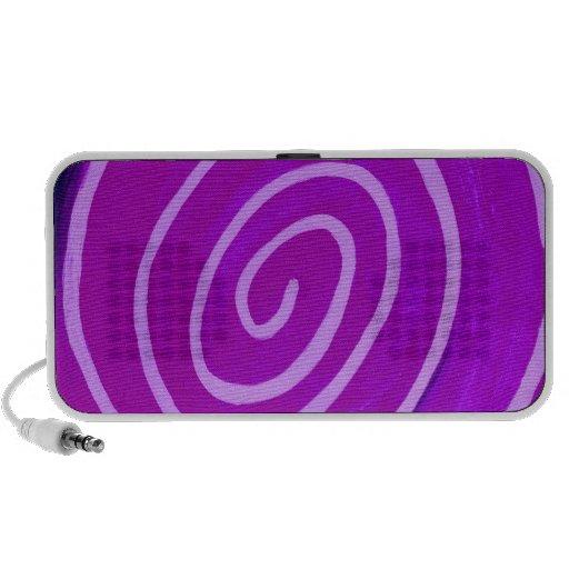 Grape Swirl iPod Speakers