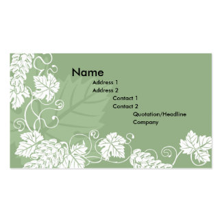 grape vine business card background