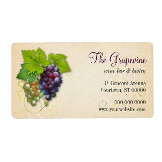 Grape Vine Business Label label