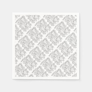 Grape Vine Spray Line Art Design Paper Napkin
