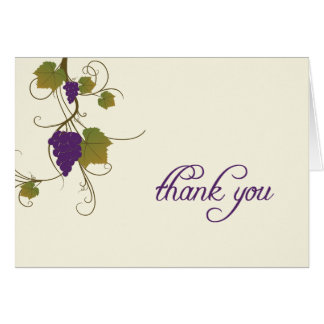 Grape Vine Thank You Note Greeting Cards
