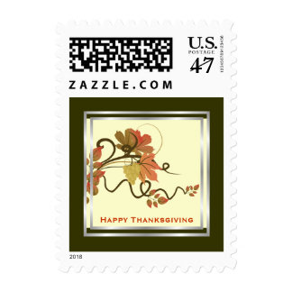Grape Vine Thanksgiving Custom Postage Stamp