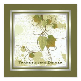 Grape Vine Thanksgiving Dinner Custom Invitation