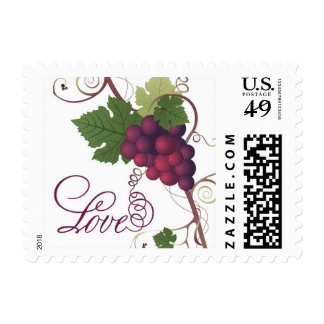 Grape Vine Winery Love Stamp - Red Wine | Small