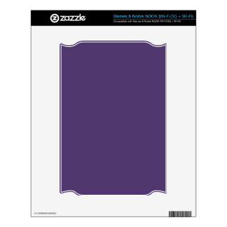 Grape Violet Background. Chic Fashion Color Trend Decal For The NOOK