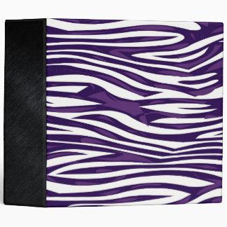 Grape Zebra Abstract 3 Ring Binder