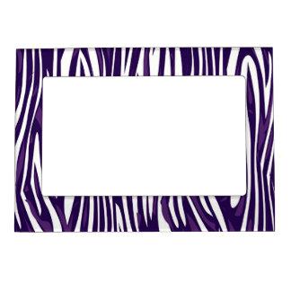 Grape Zebra Abstract Magnetic Photo Frame
